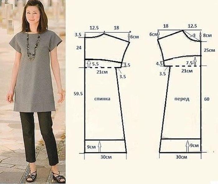 Как сшить простое платье своими руками для начинающих выкройки