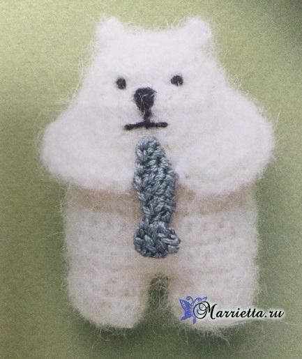 Амигуруми. Белый медведь с рыбкой (2) (433x515, 205Kb)