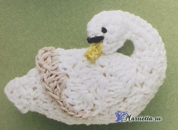 Амигуруми. Белые лебеди крючком (4) (569x414, 239Kb)