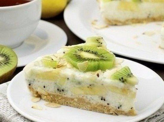 Торт йогуртовый с киви рецепт пошагово