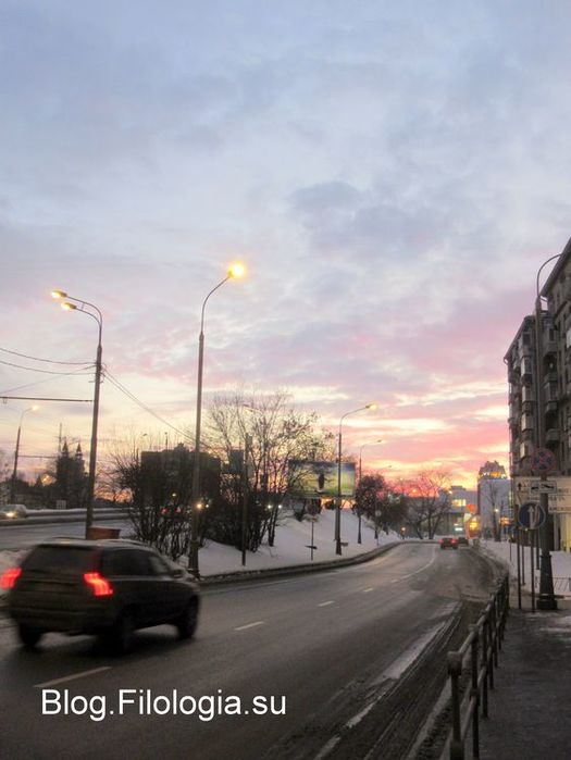 Зима. Алый закат в Москве (525x700, 45Kb)