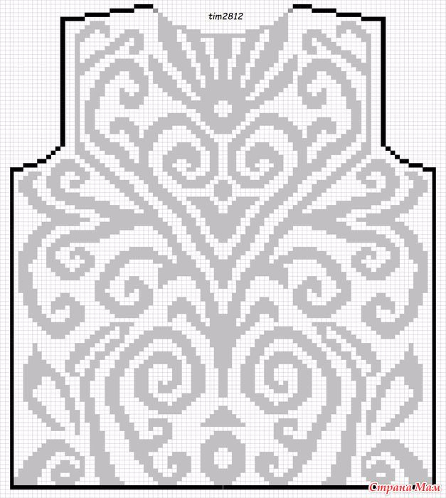 филейная блуза сх (627x700, 325Kb)