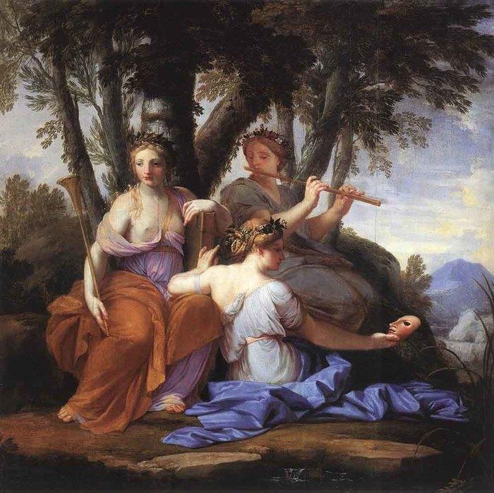 LE_SUEUR_Eustache_The_Muses_Clio_Euterpe_And_Thalia (700x699, 117Kb)