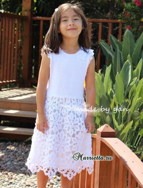 Платье «Белоснежка» крючком для маленькой принцессы (2) (474x623, 303Kb)