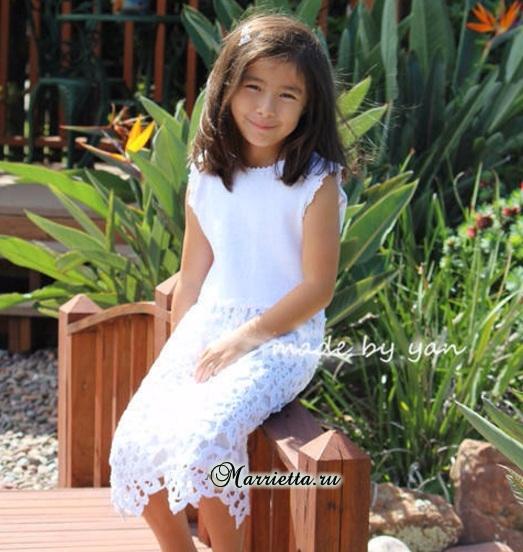 Платье «Белоснежка» крючком для маленькой принцессы (4) (523x552, 307Kb)