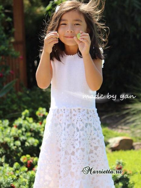 Платье «Белоснежка» крючком для маленькой принцессы (6) (466x620, 260Kb)