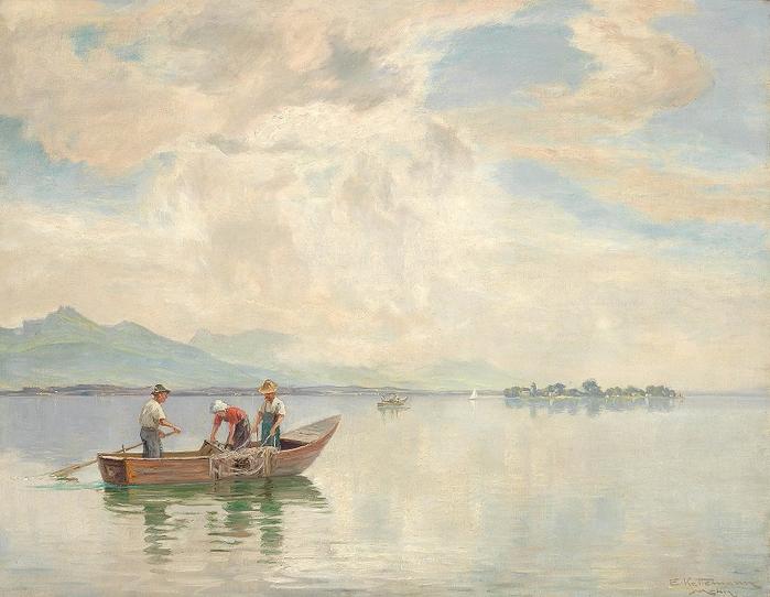 Вид на озере Кимзее (Partie am Chiemsee) (700x542, 393Kb)