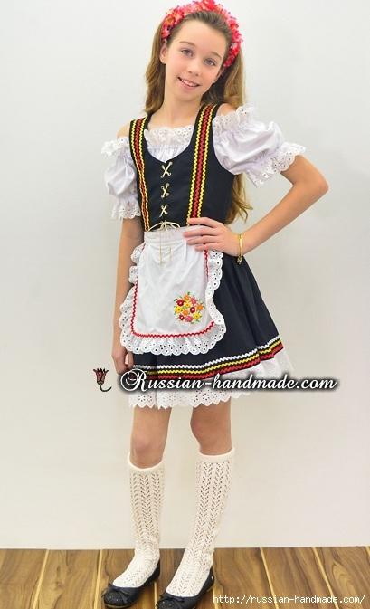 Для утренника. Платье для девочки «Немецкий Октоберфест» (2) (409x673, 154Kb)