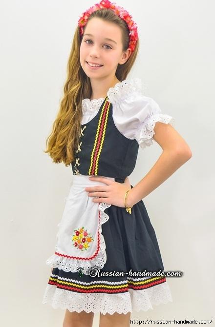 Для утренника. Платье для девочки «Немецкий Октоберфест» (4) (440x670, 145Kb)