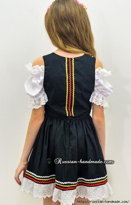 Для утренника. Платье для девочки «Немецкий Октоберфест» (6) (423x661, 163Kb)