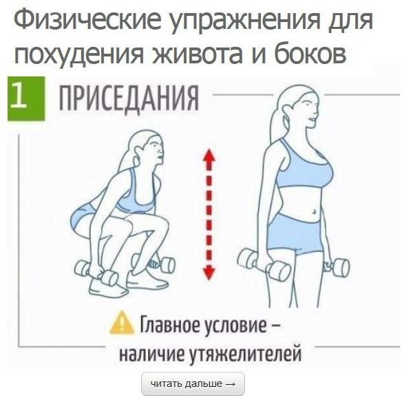 Диета для похудения живота и боков простая и эффективная