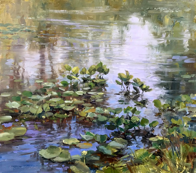 Water Lilies In Summer (652x576, 507Kb)