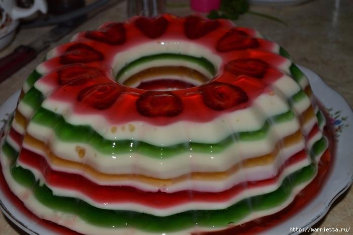 Желейный торт. Рецепт (2) (700x466, 200Kb)