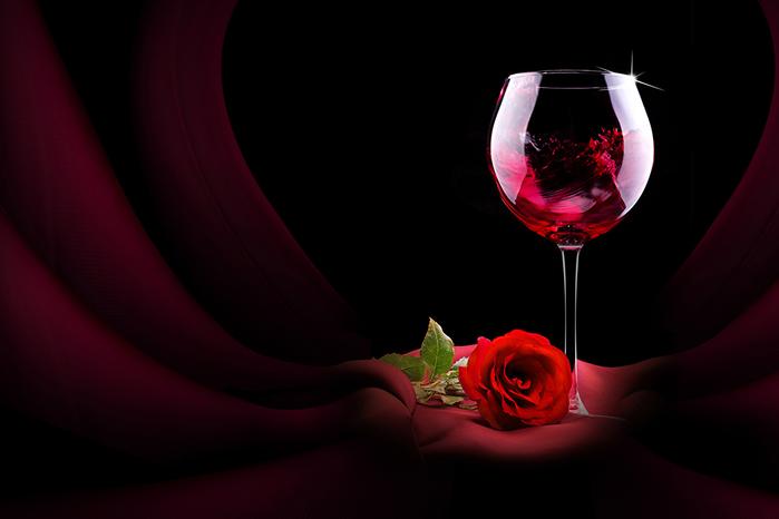 бокал вина натюрморт 6 (700x466, 169Kb)
