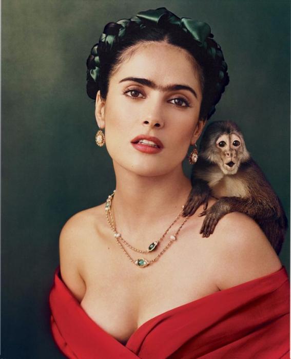 2. Сальма Хайек в образе Фриды Кало (567x700, 302Kb)