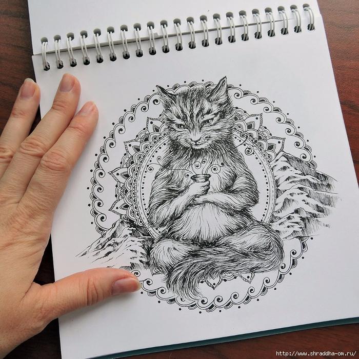 йога-Кот от Shraddha (4) (700x700, 452Kb)