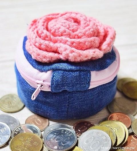 Шьем кошелек из джинсов с вязаной крючком розой (24) (480x529, 205Kb)