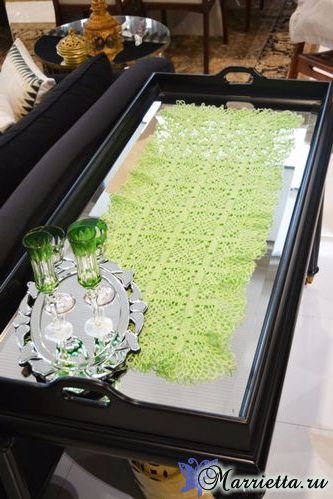 Декоративная салфетка для журнального столика. Крючком (1) (333x499, 180Kb)