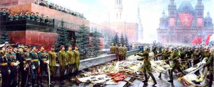 1945 Красная площадь (700x285, 28Kb)