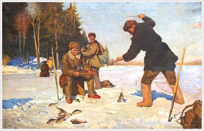 детские картины о рыбалке