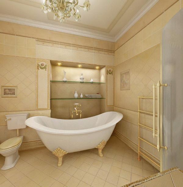 Ремонт в ванной классика