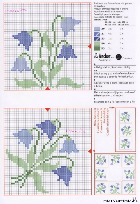 Нежная весенняя вышивка для скатерти. Схемы (8) (481x700, 284Kb)