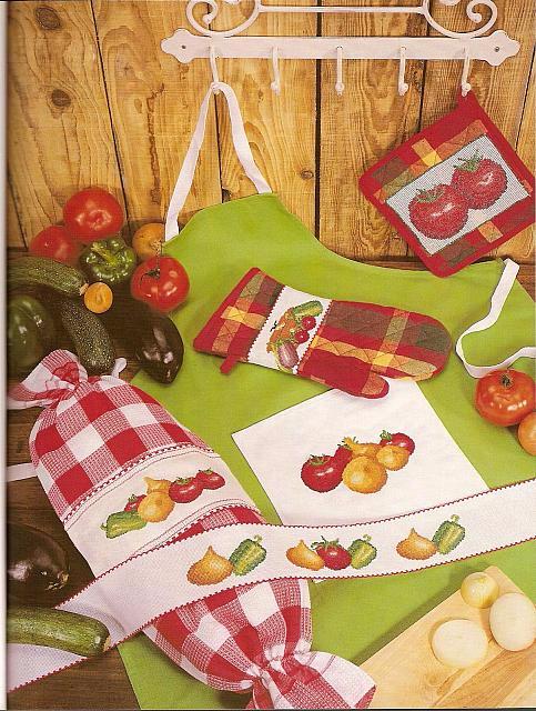 Овощная тема для вышивки кухонных аксессуаров (5) (483x640, 401Kb)