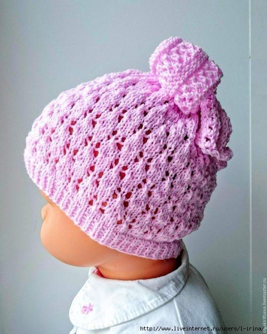 针织小婴幼儿帽(帽顶系蝴蝶结) - maomao - 我随心动