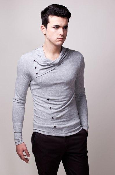 Джемпер серый модный 4904 (397x604, 31Kb)