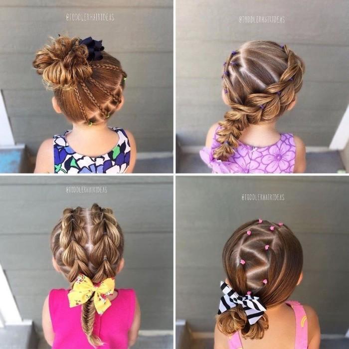 прически для маленьких девочек с фото пошагово