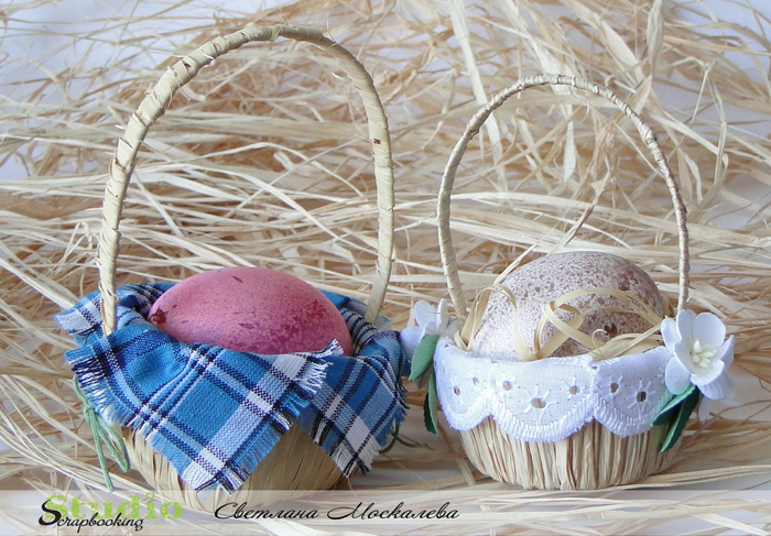 Корзинка для пасхальные яйца своими руками