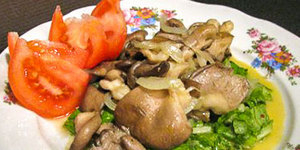 Теплый салат с вешенками (300x150, 58Kb)