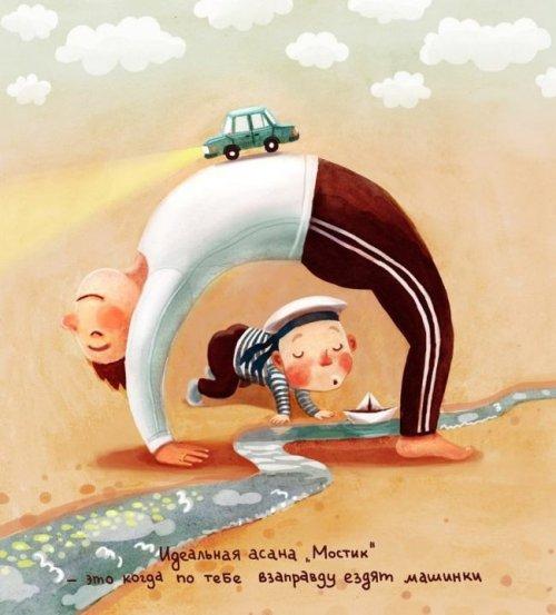 Элина Гордеева иллюстрации йога 6 (500x553, 194Kb)