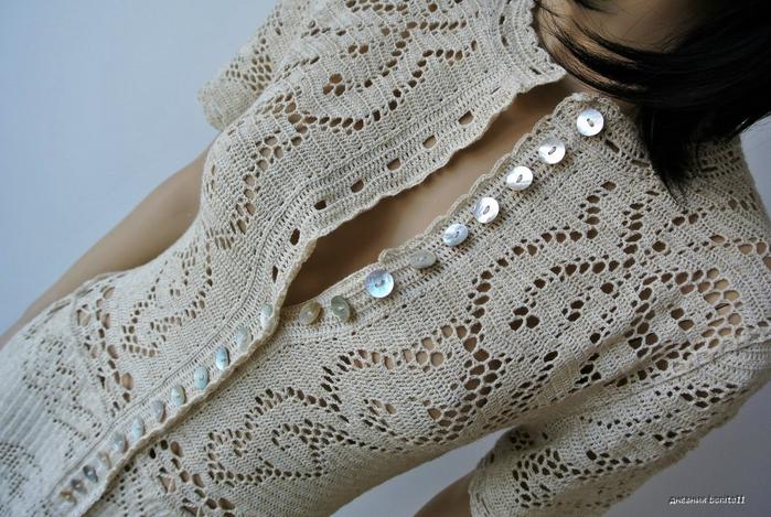 漂亮的钩针网格连衣裙 - maomao - 我随心动