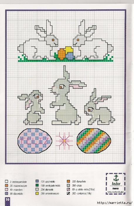 Миниатюрная вышивка крестом. Пасхальная тема (30) (457x700, 275Kb)