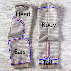 Шьем игрушки из носков - СЛОНИКИ (6) (300x300, 102Kb)