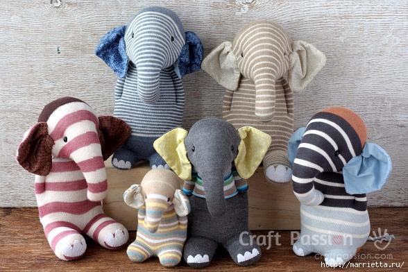 Шьем игрушки из носков - СЛОНИКИ (35) (588x392, 211Kb)