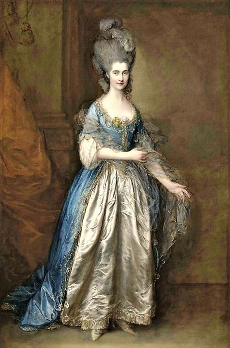 Томас Гейнсборо    Портрет мисс Рид, позднее миссис Уильям Вильбуа    1777,    226?147 (462x700, 101Kb)