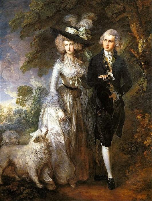 Томаса Гейнсборо     «Утренняя прогулка»    1785 (531x700, 156Kb)