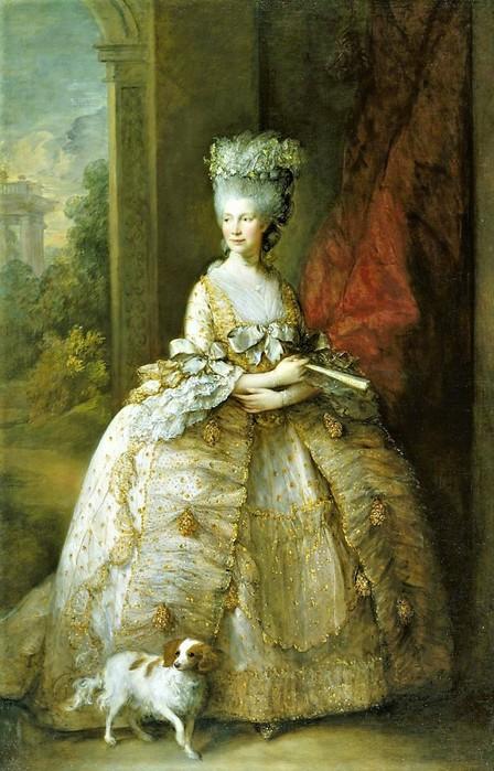 Томас Гейнсборо   Портрет королевы Шарлотты      1781 (448x700, 105Kb)