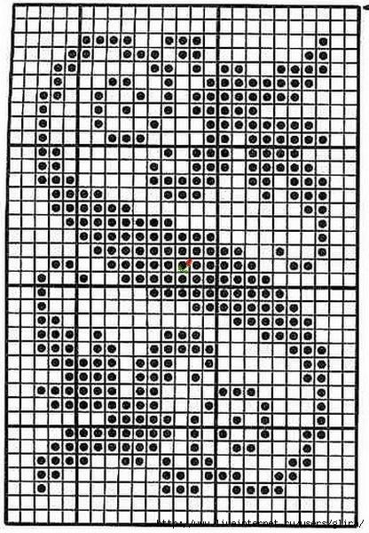 Схемы для начинающих филейного вязания 46
