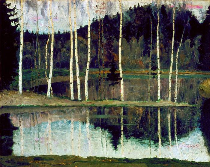 Михаил Васильевич Нестеров (1862-1942) Начало весны_Ранняя весна. 1905 (700x557, 512Kb)