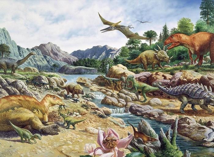 Родословная динозавров (схема и 10 основных групп)