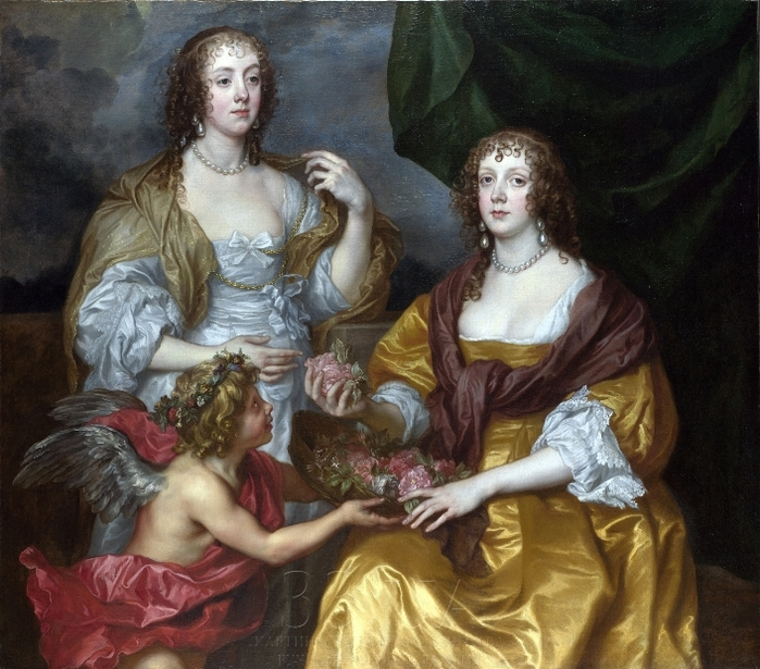 DYC - 0012 -- Lady Elizabeth Thimbelby and her Sister (The National Gallery, London) (700x615, 332Kb)
