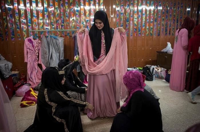 Фотографии, как проводится конкурс красоты среди девушек-мусульманок
