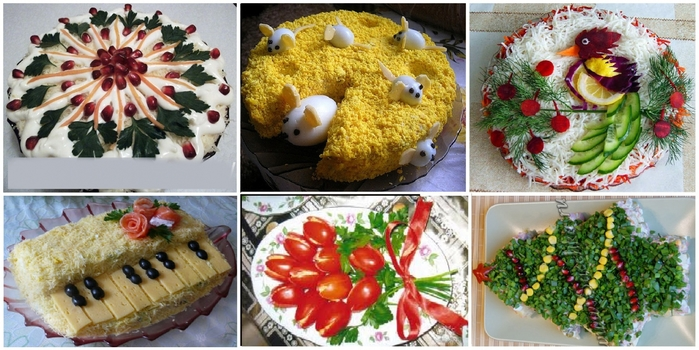 Украшения салатов с фотом