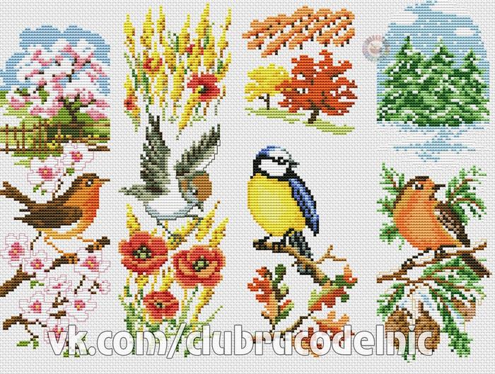 Сезонные панельки с птичками (700x529, 574Kb)
