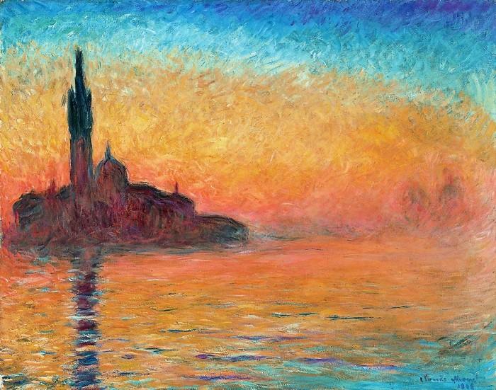 Клод Моне    Сумерки,  Венеция  1908 (700x551, 152Kb)
