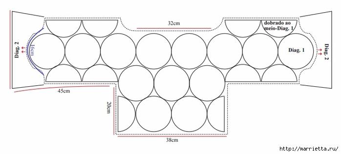 Укороченная блуза крючком из круглых мотивов (4) (700x316, 87Kb)