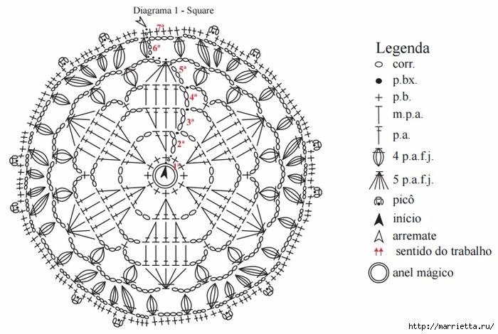 Укороченная блуза крючком из круглых мотивов (5) (700x470, 216Kb)